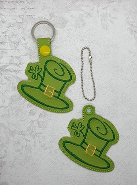 Leprechaun Hat Snaptab / Keyfob Embroidery Design